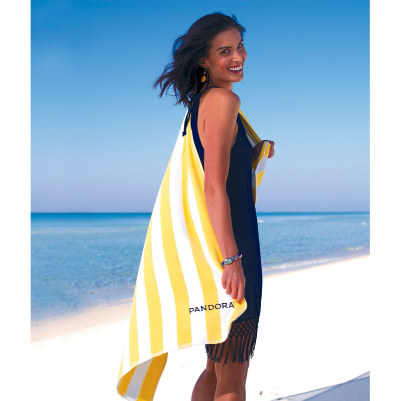 Turkish Signature Basic Weight Cabana Stripe Beach Towel
