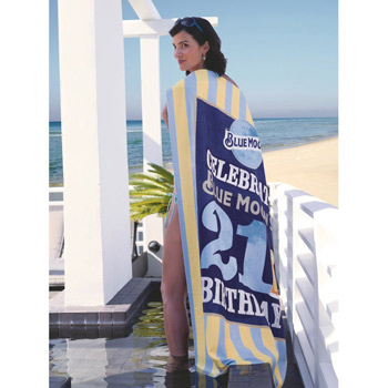 Custom Striped Cabana Beach Towel