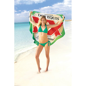 ColorFusion Hot Round Beach Towel