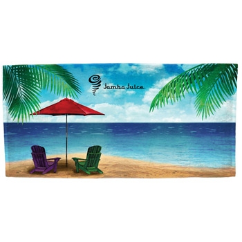 """Water's Edge"" Fiber Reactive Stock Design Beach Towel"